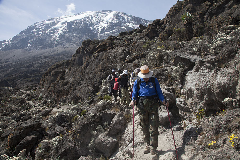 Climbing the Barranco Wall, Mt Kilimanjaro