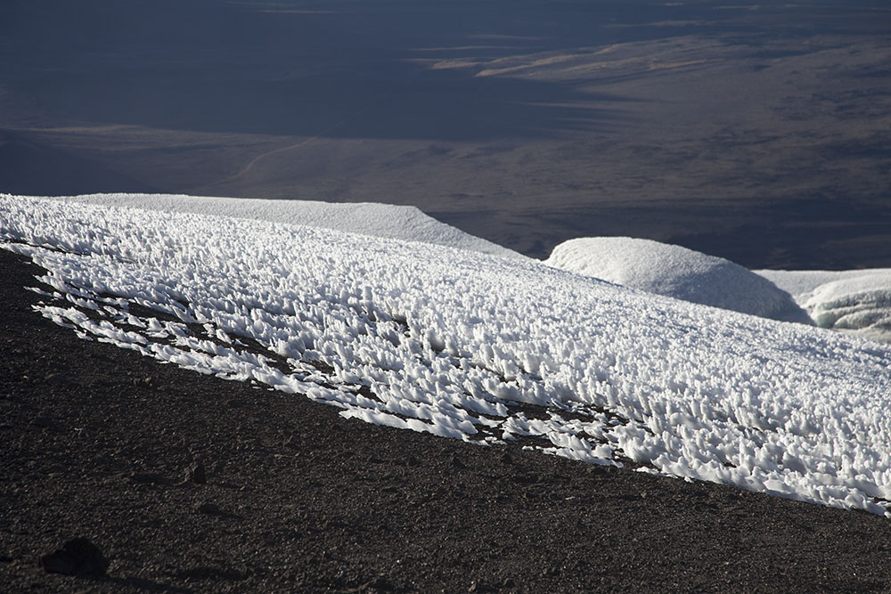 Ice fields on Mt Kilimanjaro