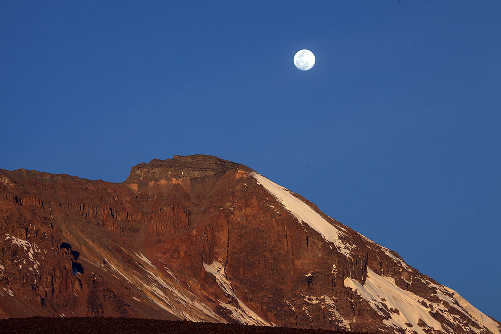 Moonrise over Mt Kilimanjaro