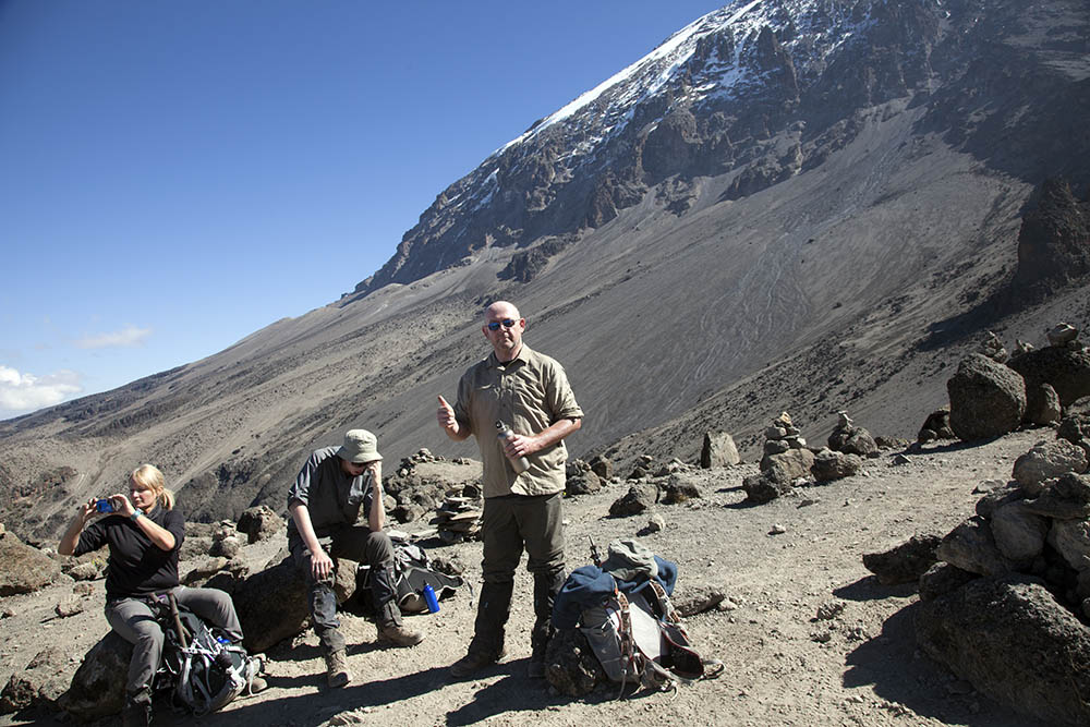 On the way to Karanga Camp Mt Kilimanjaro